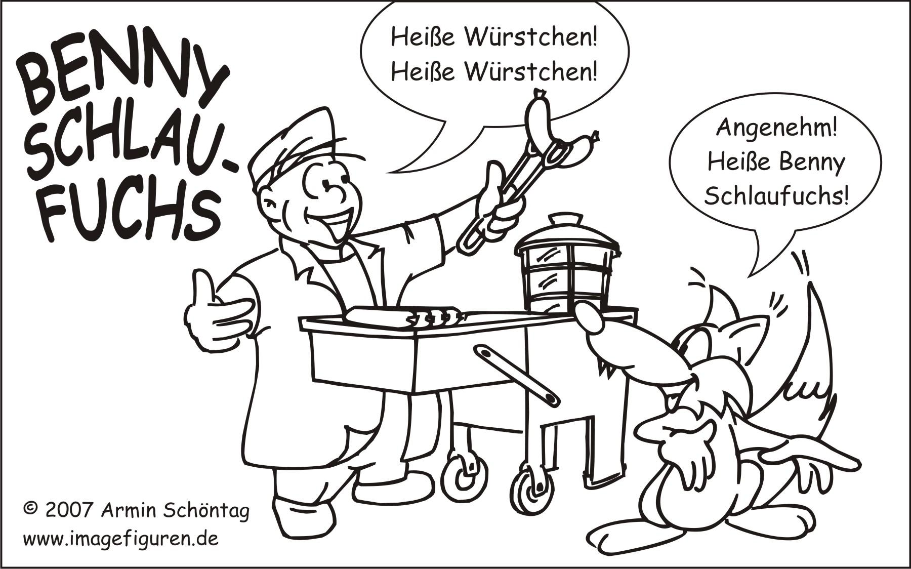 Benny Schlaufuchs von Imagefiguren, Heisse Würstchen