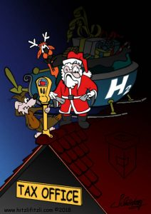 Even Benny Hitzlifitzli is surprised, a parking meter is attached to the roof of the tax office. Even Santa Claus has no change. And his reindeer are horrified! How is this supposed to continue! The fuel cell Christmas sledge has cost the developers an incredible fortune, nerves and time. And they invested it to save the world. But what the Treasury had been waiting for is obviously just more revenue ...